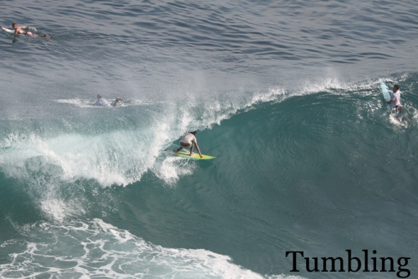 Surf report photo of Padang Padang